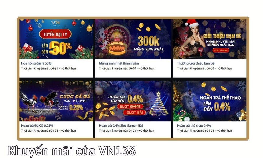 VN138 – Chương trình khuyến mãi khi nạp tiền của VN138